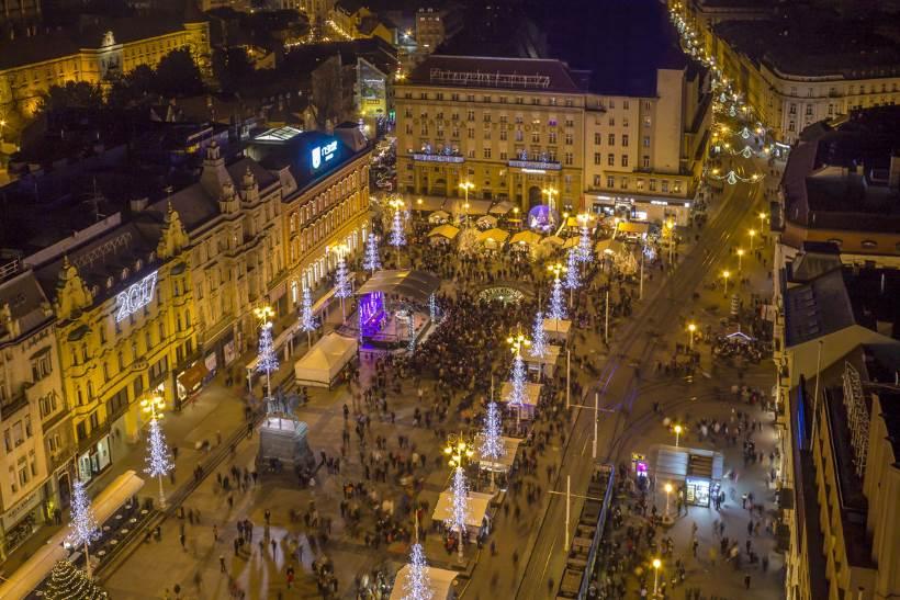 Piazza centrale di Zagabria – Piazza di ban Josip Jelačić